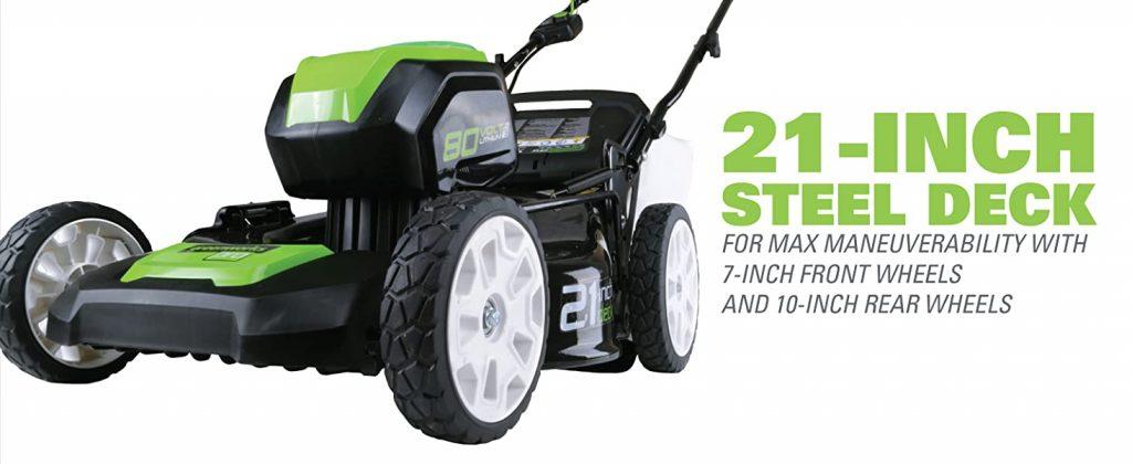 Greenworks 80V Mower Deck Size