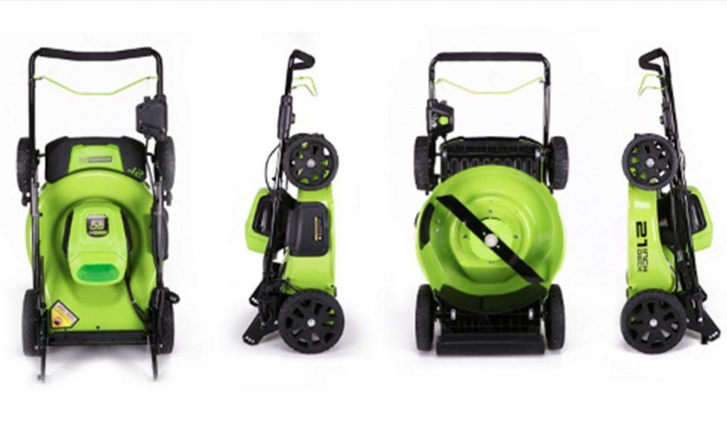 Greenwork Mower Vertical Storage
